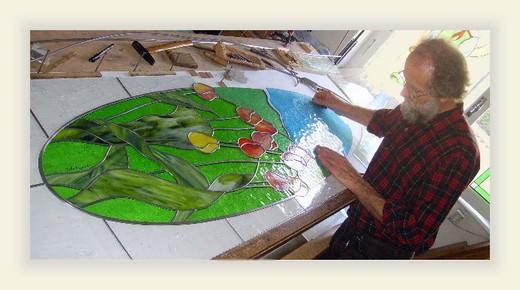 Vetri artistici cosa produciamo le nostre vetrate la for Vetrate artistiche per porte interne